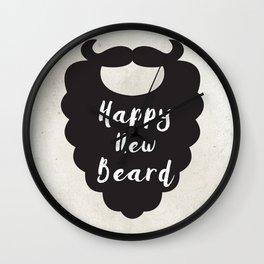 Happy New Beard Wall Clock