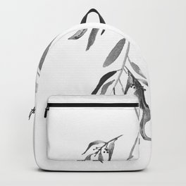 Eucalyptus Branches II Black And White Backpack