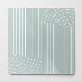 Minimal Line Curvature VII Metal Print