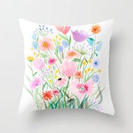Botanic Floral 3 Throw Pillow