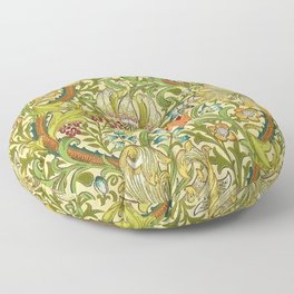 William Morris Calla Lilies, Tulips, Daffodils, & Red Poppies Textile Print Floor Pillow