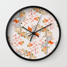 pyramid pattern Wall Clock