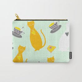 Cool Cats Coffee and Chessse party Artwork Carry-All Pouch