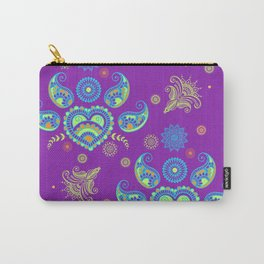 Paisley pattern on purple Carry-All Pouch