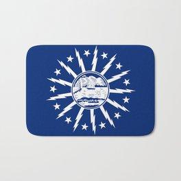 Buffalo city flag united states of america New York Bath Mat