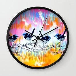 Pink and Yellow Wall Clock