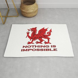 Nothing Is Impossible Red Dragon Rug