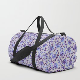 Watercolor Peonies - Periwinkle Duffle Bag