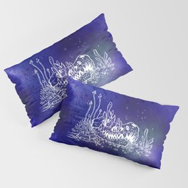 Dino skull – Blue Pillow Sham