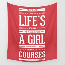 Lab No. 4 Flops Are A Part Of Life's Rosalind Russell Motivational Quote Wall Tapestry