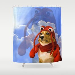 Lobster Corgi Shower Curtain
