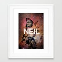 young avengers Framed Art Prints featuring Neil. by David