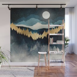 Indigo Night Wall Mural