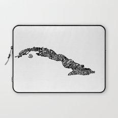 Typographic Cuba Laptop Sleeve