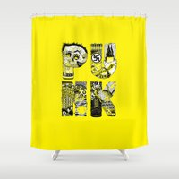 punk Shower Curtains featuring PUNK by René Barth