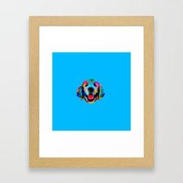 Golden Retriever puppy Framed Art Print