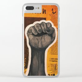 Raised Fist Clear iPhone Case