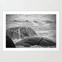 Rocky Shore Icing Art Print