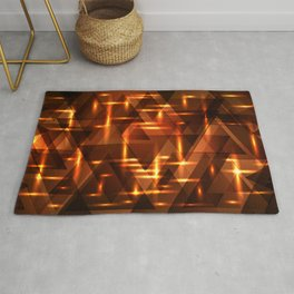 Bronze crossings on a gold metal background. Rug
