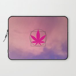 vitruvian marijuana Laptop Sleeve