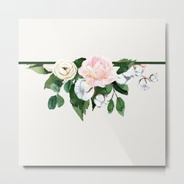 Roses and cotton upside down Metal Print