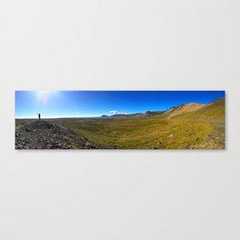 Roadside Vew of Snæfellsjökull Glacier in West Iceland (2) Canvas Print