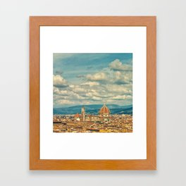Duomo in Florence Skyline Framed Art Print