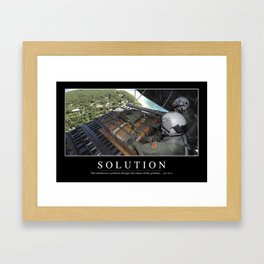 Solution: Inspirational Quote and Motivational Poster Framed Art Print
