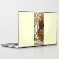 princess bride Laptop & iPad Skins featuring Bride by Karen Hallion Illustrations