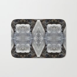 Diamond Ice Jewels Nature Image by Deba Cortese Bath Mat