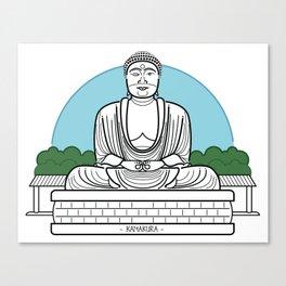 Icon-O-Tecture | Kamakura Buddha Canvas Print