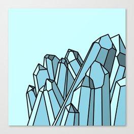 Blue Crystals Canvas Print