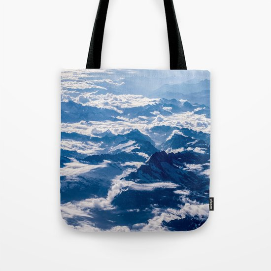 Misty Mountains Below Tote Bag