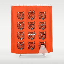 Eyes Of The Tiger Shower Curtain