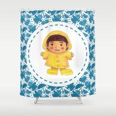The Rain Girl Shower Curtain