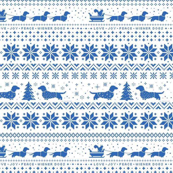 Love Joy Peace Wiener Dogs Blue Pattern Leggings