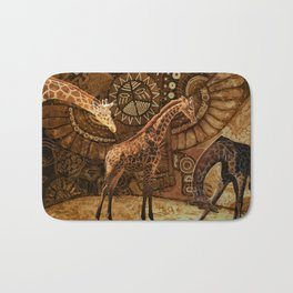 Three Giraffes Bath Mat