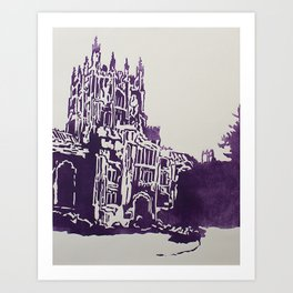 Vassar College Library Art Print