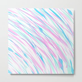 Soft Fluffy Fur Abstract Design Metal Print