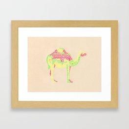 Lettering Camel Framed Art Print