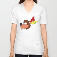 banjo V-neck T-shirts featuring Banjo by Nate Galbraith