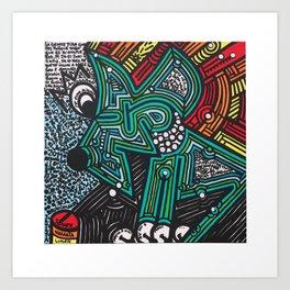 RECALCULANDO / RECALCULATING Art Print