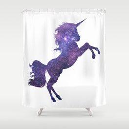 Space Glaxy Unicorn Shower Curtain