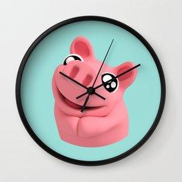 Rosa the Pig looking cute Wall Clock