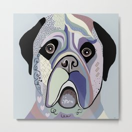 Mastiff in Denim Colors Metal Print