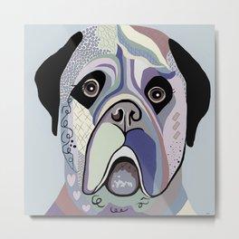Mastiff in Denim Colors Metal Print