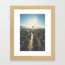 Hot Air Ballon Sunrise Framed Art Print