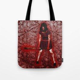 Linda - Blood-Soaked, Holding Bat Tote Bag