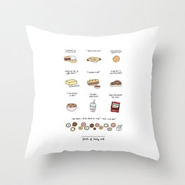 Foods of 30 Rock Throw Pillow