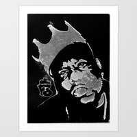 biggie Art Prints featuring Biggie by Factory Three